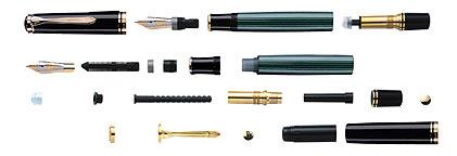 钢笔分解图